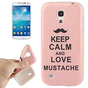 JUJEO Keep Calm and Love Mustache Pattern TPU Protective Case for Samsung Galaxy S IV Mini/I9190 - Non-Retail Packaging - Multi Color