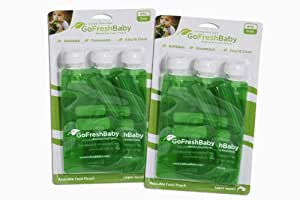 GoFreshBaby Reusable Food Pouch, 6 Pack