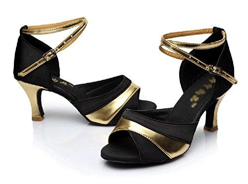 Zapatos De WYMNAME Mujeres De Mediados Wear Fondo Tacones De Blando Zapatos Baile Latino Resistant Salón Baile Dorado S6SPBq