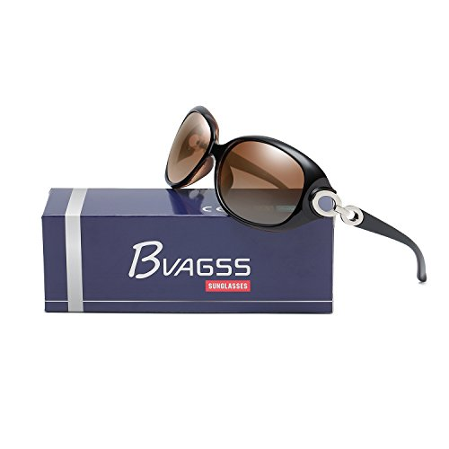 Gafas Clásico Frame De De Brown Mujer Moda De UV400 WS033 Polarizadas Lens BVAGSS Coffee Para With Sol Estilo fx5HzYq