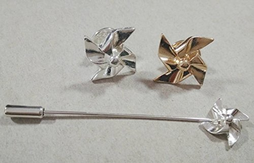 -40 Windmill foreign trade European and American style small brooch pin brooch neckwear single long needle small brooch