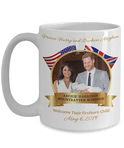 Baby Archie Prince Harry Duchess Meghan Royal Birth Commemorative Coffee Mug Gift