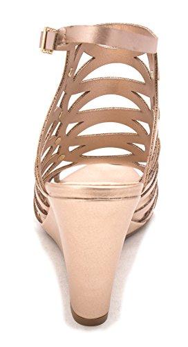 Bar III Frauen Lania Offener Zeh Leger Sandalen mit Keilabsatz Rose Gold