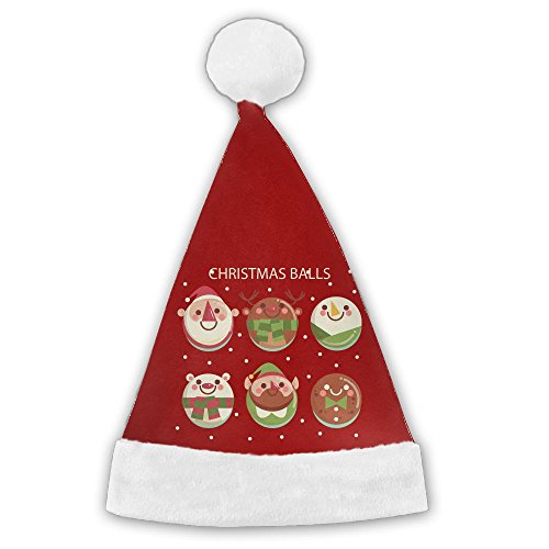 Bdna Velvet Santa Claus Hat Christmas Santa Claus Head Merry Christmas Hats Adults Children Costume XMas Decor Party Supplies Medium (Christmas Tesco 2017)