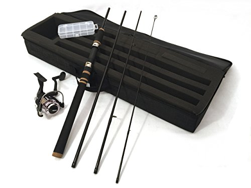 Wild Water Travel Spinning Rod and Reel Package, 6'6