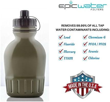 Epic supervivencia Filtro de agua cantimplora con construido en ...