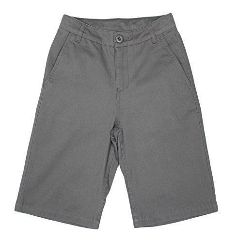 Bienzoe Big Boy's School Uniforms Flat Front Twill Bermuda Shorts Grey Size - Old Navy 7 Shorts