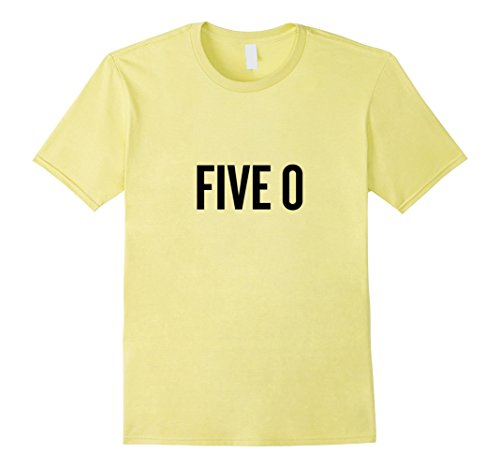 Mens five 0 Shirt for Police Officer Halloween Costume 3XL Lemon