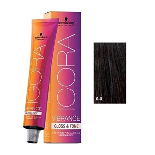 Schwarzkopf Professional Igora Vibrance Gloss and Tone Hair Color 6-0, Dark Blonde, 2.1 Ounce