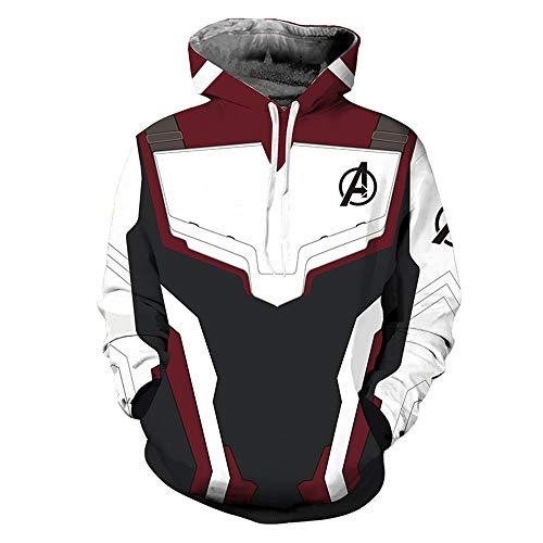 - Moovi Avenger's Endgame Hoodie Quantum Realm Cosplay Costume 3D Print Zipper Jacket Pullover Sweatshirt (2:Pull on, XXX-Large)