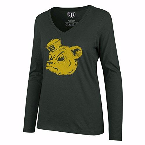 NCAA Baylor Bears Women's Ots Rival Long sleeve Distressed Tee, X-Large, Dark Green