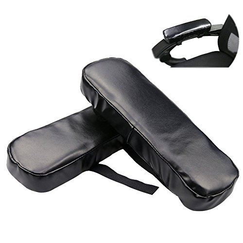 NACHEN Chair Armrest Covers PU Leather Work Station Desk Arm Cushions for Elbow Relief Pillow 1 Pair Armrests Pad,Black,250X75x35mm