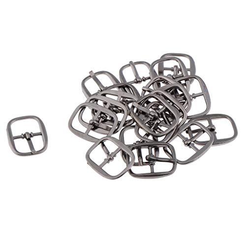 (Fenteer Pack of 20pcs Antique Metal Buckles Art Crafts DIY Shoes Watches Bags Sewing Repairs Watch Tools 18 x 10mm - Black)