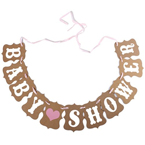 Vipe Baby Girl Boy Kraft Paper Garland Banner Bunting Chic Shower Party Decorate (It's a (Baby Shower Decoratios)