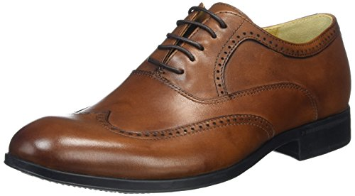 Steptronic BUGATTI Mens Waxed Leather Oxford Brogues Cognac 41 FxqSNl6k