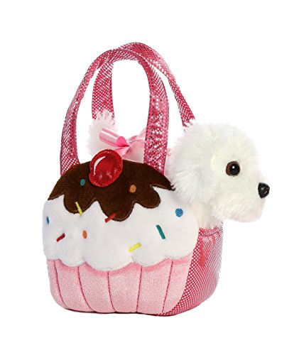 - Aurora World Fancy Pals Pet Carrier Sweets Cupcake & Puppy Plush