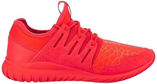 adidas Kinder-Unisex Tubular Radial J Turnschuhe, Grau Rosso (Red/Red/Cblack)