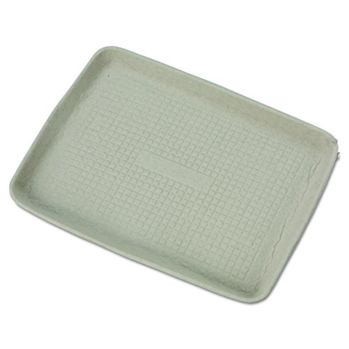 Chinet 20815 StrongHolder Molded Fiber Food Trays, 9 x 12 x 1, Beige, Rectangular (Case of 250) Beige Round Serving Plate