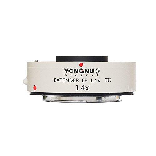 YONGNUO EF 1.4X III Teleconverter Extender Auto Focus Lens for Canon EOS EF Lens (Yongnuo Extender Ef 1-4 X Iii Teleconverter)