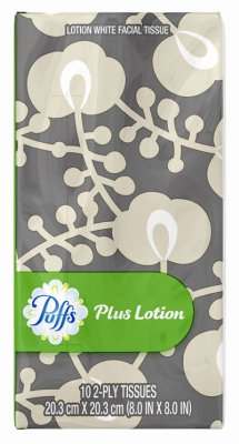 - Puffs Procter & Gamble 84419 Facial Tissue to Go Plus Lotion, 10 Sheets - Quantity 144