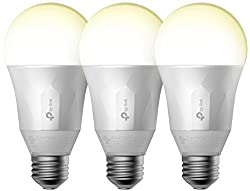 Kasa Smart Wi-fi Led Light Bulb By Tp-link - Soft White, Dimmable, A19, No Hub Required, Works With Alexa & Google Assistant, 3-pack (Lb100 Tkit)