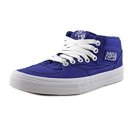 26e8bbe68b Galleon - Vans Unisex Half Cab (Canvas) Blueprint True White Skate Shoe 7  Men US 8.5 Women US