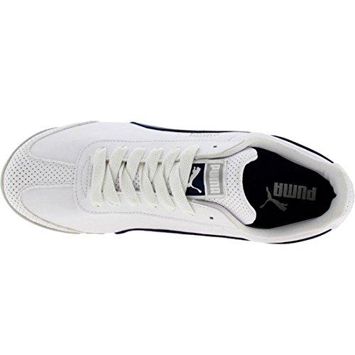 Puma Men's Roma Pso Fashion Sneaker,White/Blueprint/Silver Metalli,11.5US/ D US
