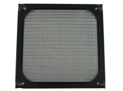 80mm Black Anodized Aluminum Computer PC Case Fan Grill / Guard / (Aluminum Fan Filter)