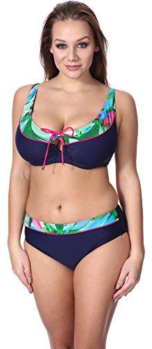 Merry Style Bikini Conjunto para mujer P62981MC Navy/Flor