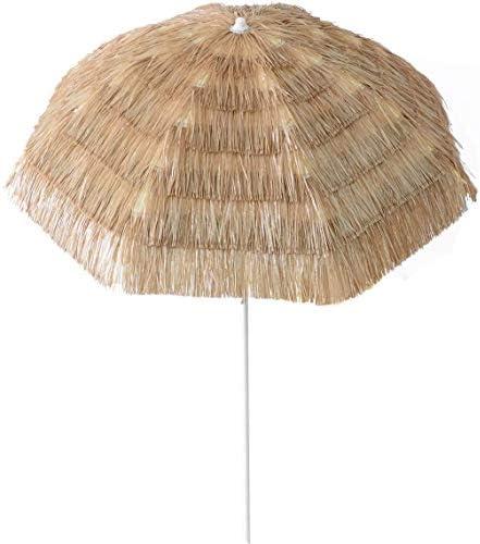 Aoxun 6.5 Foot Thatch Patio Tiki Umbrella