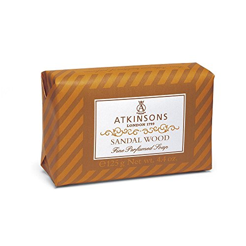 (Atkinsons Fine Perfumed Line Soap, Sandal Wood, 125 g, 1 Piece)