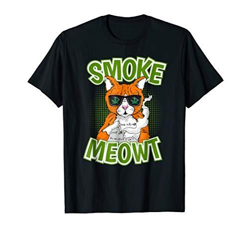Smoke Meowt Shirt - Cat Cannabis Weed Shirt Gift Men Women