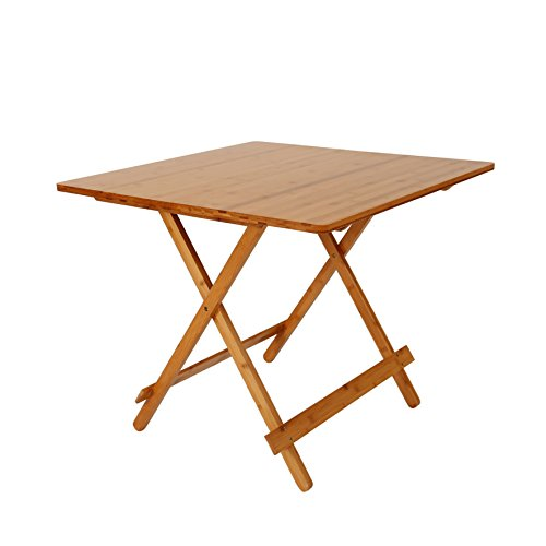 UNICOO – Bamboo Square Folding DeckTable, Portable Picnic Folding Table, Game Table, Card Table T80-S – Table Only