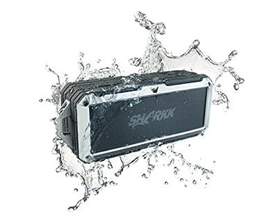 Sharkk 2O Bluetooth Speaker IP67 Waterproof Speaker Outdoor Pool Beach and Shower Portable Wireless Speaker from SHARKK