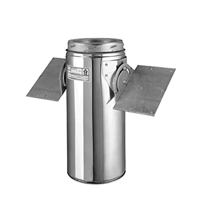 """Metalbest 6T-RSP Sure-Temp 6"""" Class A Chimney Pipe Roof Support Package,"""