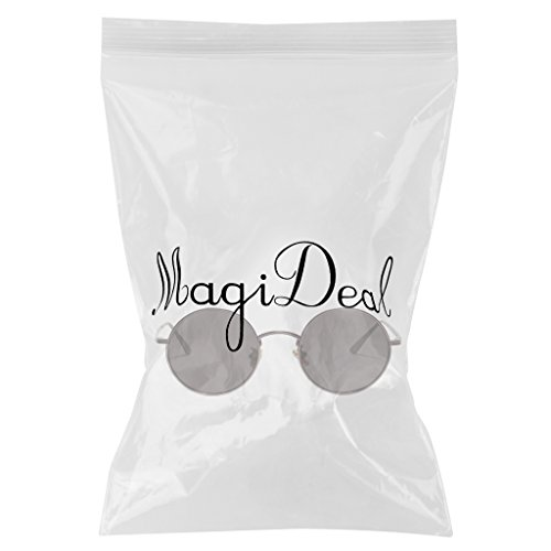 Forma Decoración Masculinos Clásica MagiDeal Pesca 1x Sol Personalidad Femeninos claro gris Vidrios Redonda Gafas Viajes Estilo de Retro fA0SUq