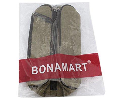 BONAMART ® Damen Herren Männer Flach Leinwand Hüfttasche Gürteltasche Bauchtasche Schultertaschen Reise Sport Khaki