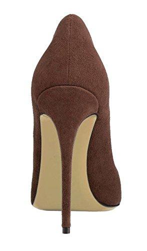 Chaussures Stilettos uBeauty Aiguille Femmes Chaussures Talons Escarpins suède marron Grande Taille Femme Talon q6wEwft
