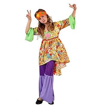 Desconocido Disfraz de hippie para niña: Amazon.es: Juguetes y juegos