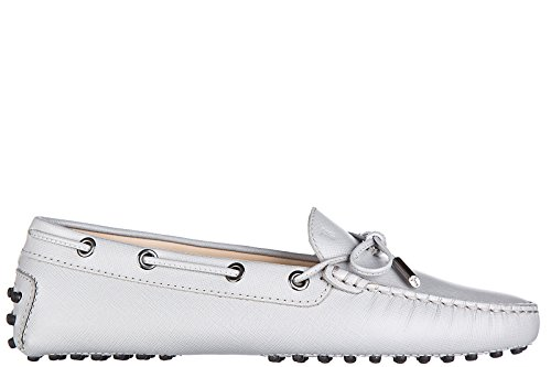 tods-womens-leather-loafers-moccasins-heaven-laccetto-occhielli-grey-us-size-75-xxw0fw05030sfpb219