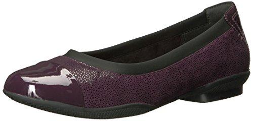 Clarks Damen Sneaker Violett Aubergine