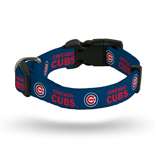 Rico Industries Chicago Cubs Pet Collar Size M - Chicago Cubs Adjustable Dog Collar