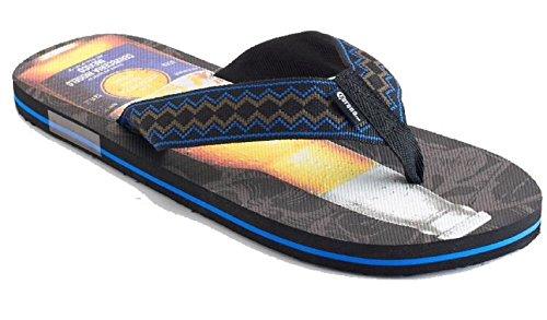 Corona Men's Flip-Flops Sandals (Large (10-11)) Black ()