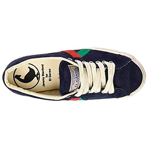 El Ganso M Match Ante/Canvas Ribbon, Chaussures homme, Baskets mode, Sneaker Waking (Berliner) Suede Dark Blue