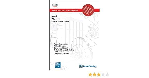 audi q7 2007, 2008, 2009: repair manual on dvd-rom (windows 2000/xp): audi  of america: 9780837615028: amazon com: books