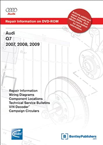 audi q7 2007 2008 2009 repair manual on dvd rom windows 2000 xp rh amazon com 2009 audi q7 repair manual audi q7 2009 mmi manual