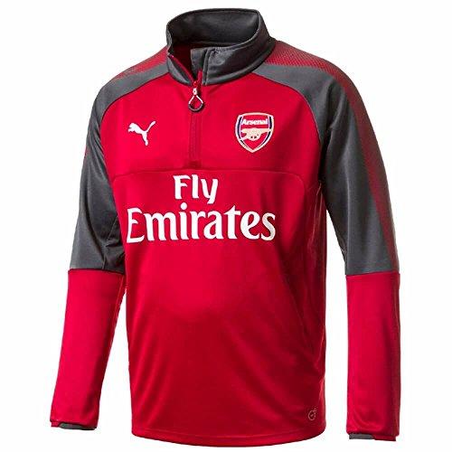 2017-2018 Arsenal Puma Half Zip Training Top (Chilli Pepper) (Jersey Soccer Training Puma)