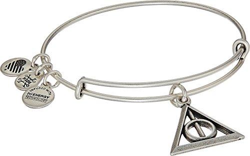 Alex and Ani Deathly Hallows EWB Rafaelian Silver Bangle Bracelet by Alex and Ani