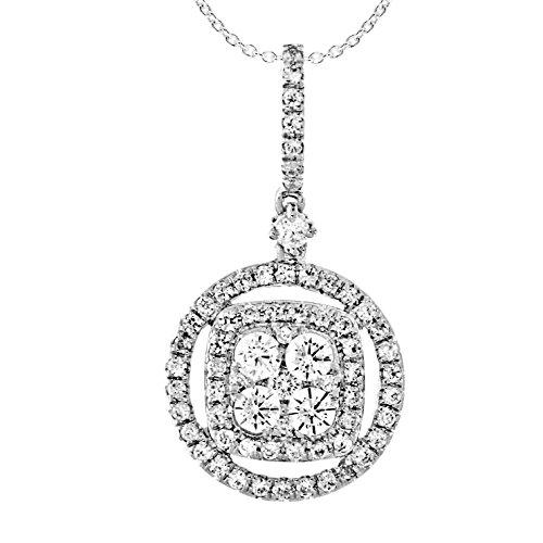 Diamant pendentif de mode 0.45 ct tw rond coupé or blanc 9K