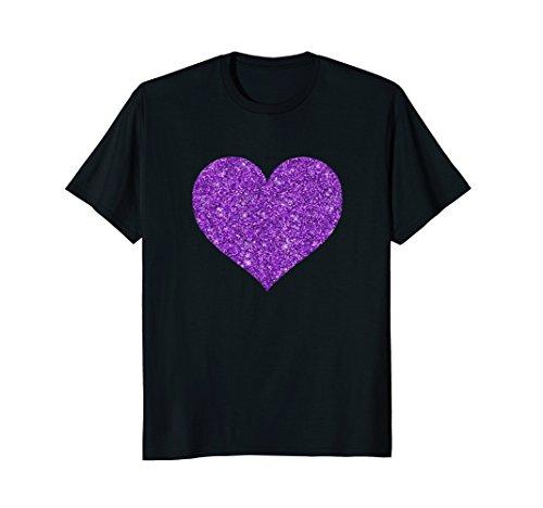 - Purpul Heart Glitter Tshirt for Valentine's Day
